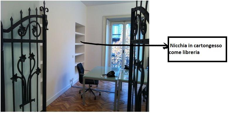 Ristrutturazione da appartamento a ufficio for Nicchie nelle pareti