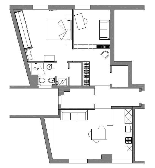 Unire due appartamenti adiacenti ristrutturazione low cost for Appartamenti low cost new york